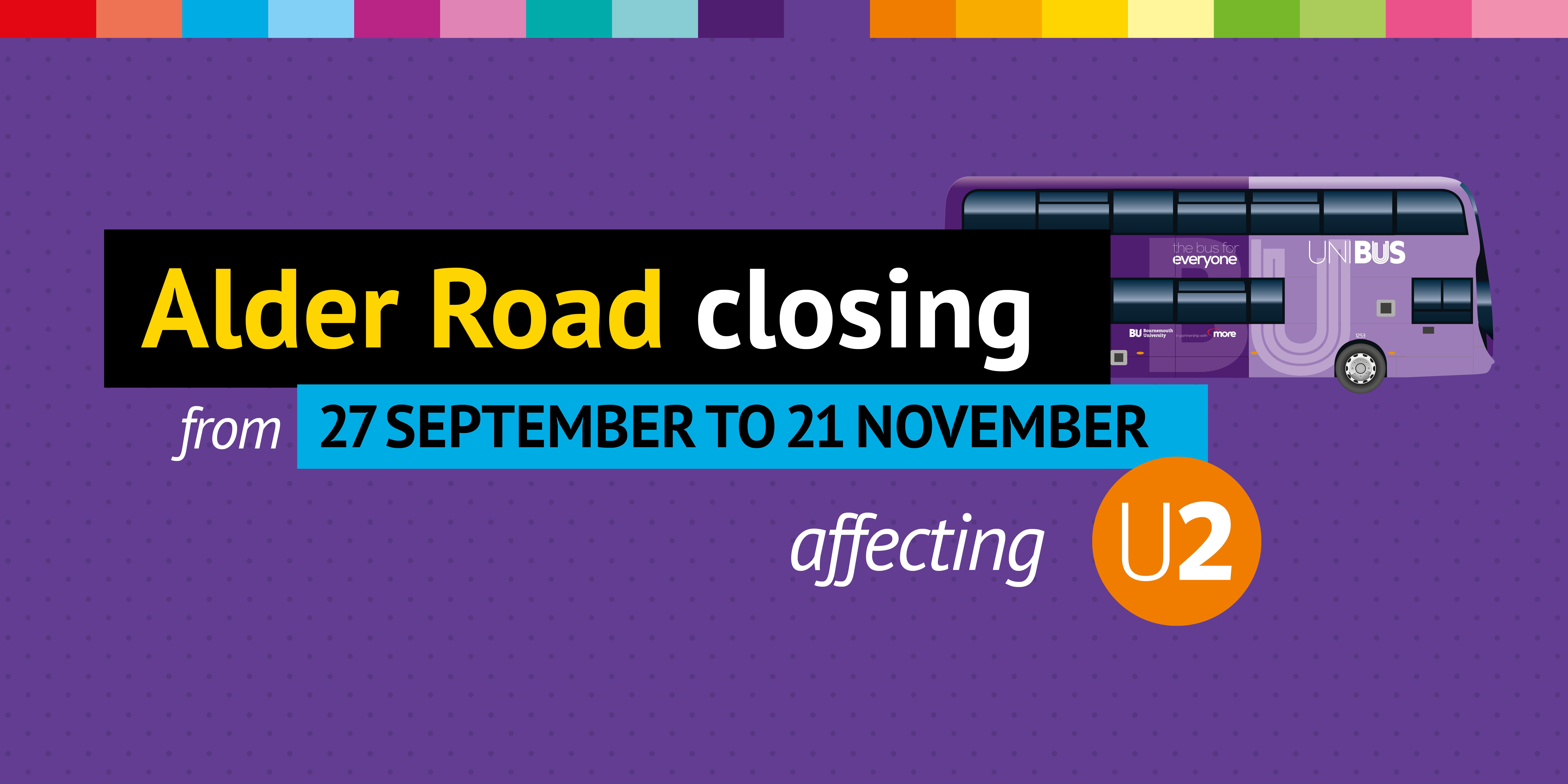 alder road closing from 27 september until 21 november